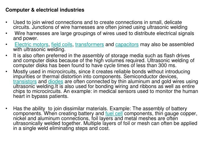 Computer & electrical industries