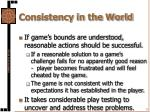 consistency in the world1