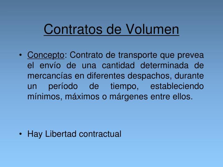 Contratos de Volumen