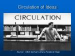 circulation of ideas
