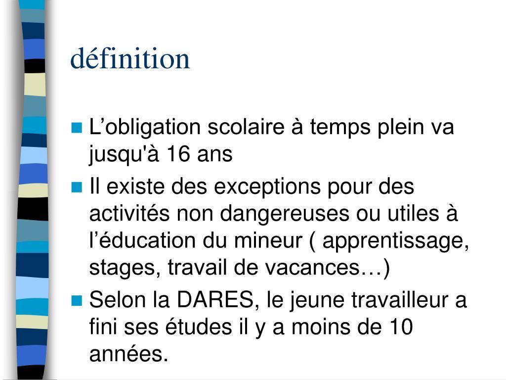 Ppt Le Travail Des Jeunes Powerpoint Presentation Free Download Id 3650035