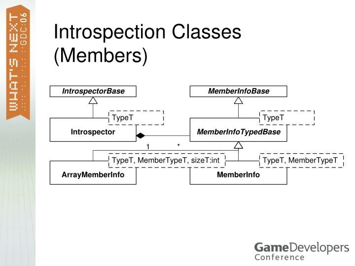 Introspection Classes (Members)