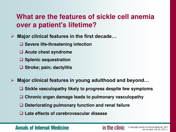 the clinical description of sickle cell anemia and its prevalence Physician assistants and nurse practitioners use clinical advisor prevalence sickle cell anemia is if a diagnosis of sickle cell anemia or sickle.