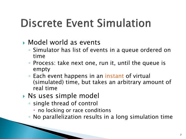 Discrete Event Simulation