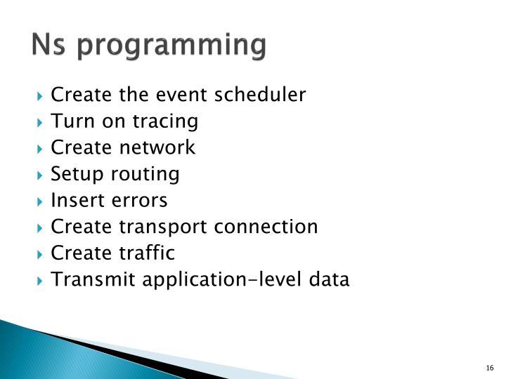 Ns programming