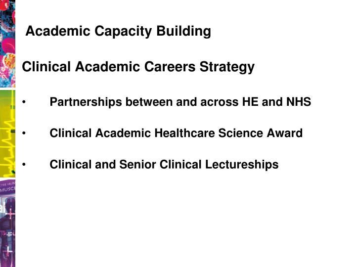 Academic Capacity Building