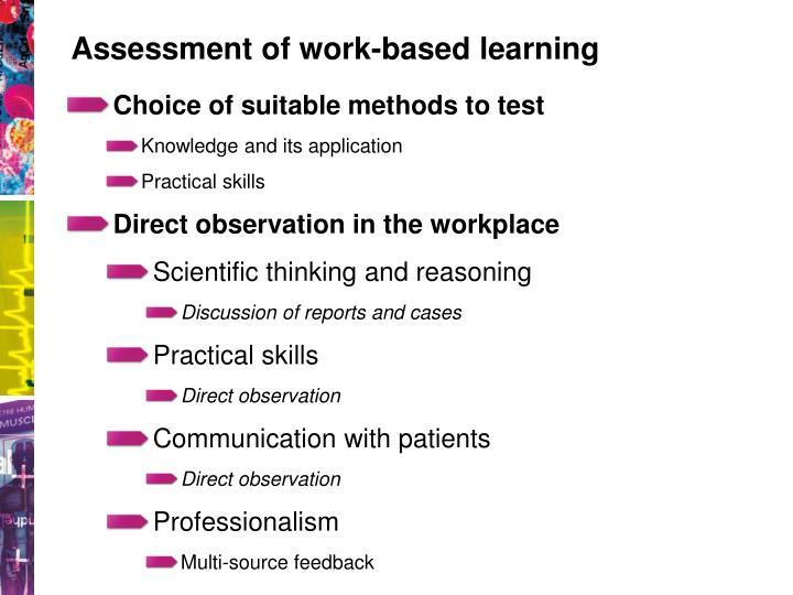 Assessment of work-based learning