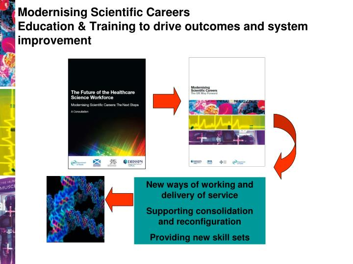 Modernising scientific careers education training to drive outcomes and system improvement
