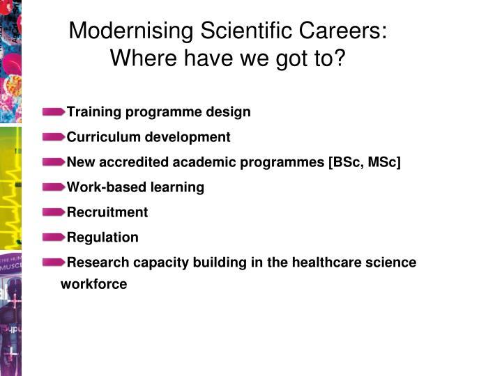 Modernising Scientific Careers: