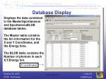 database display