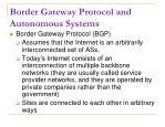 border gateway protocol and autonomous systems
