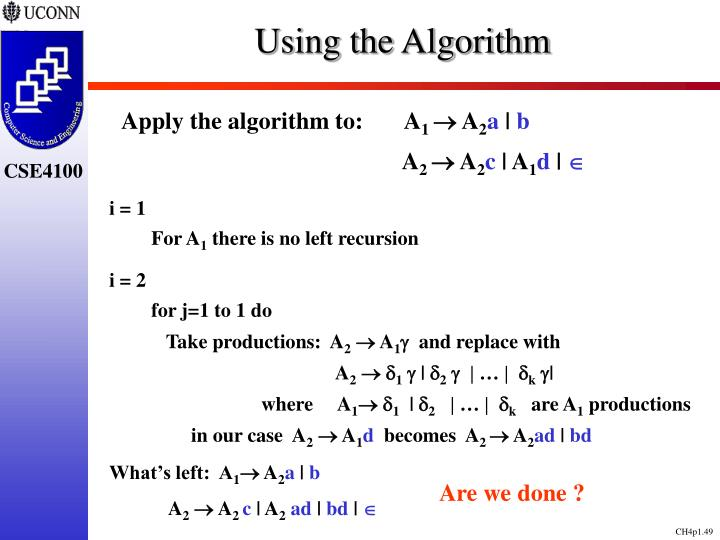 Using the Algorithm