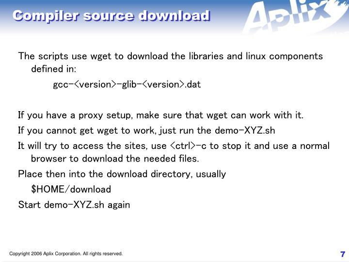 Compiler source download