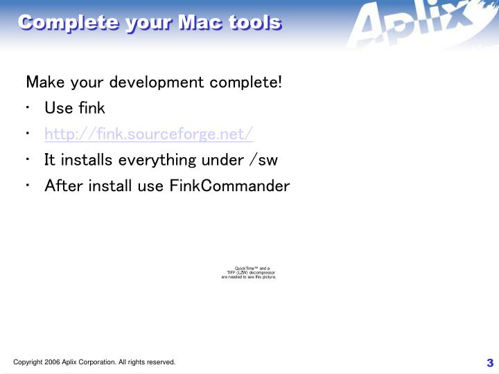 Complete your mac tools