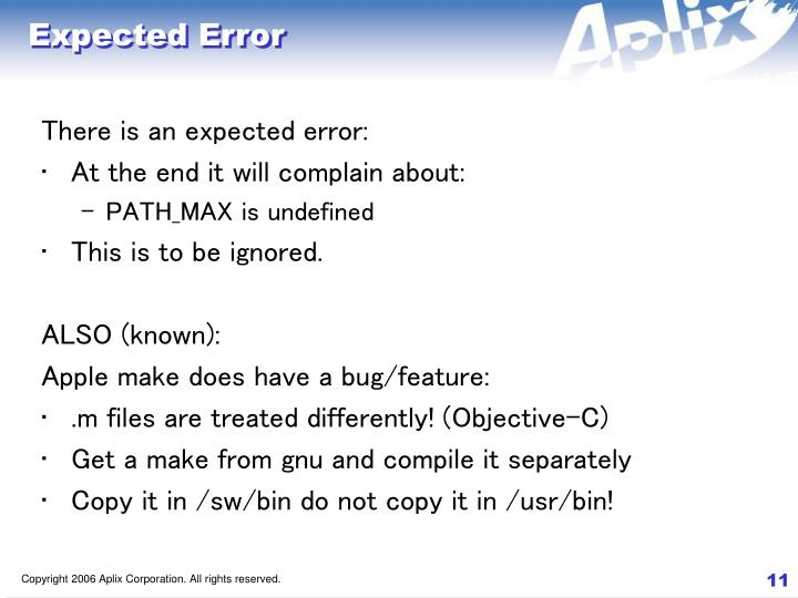 Expected Error