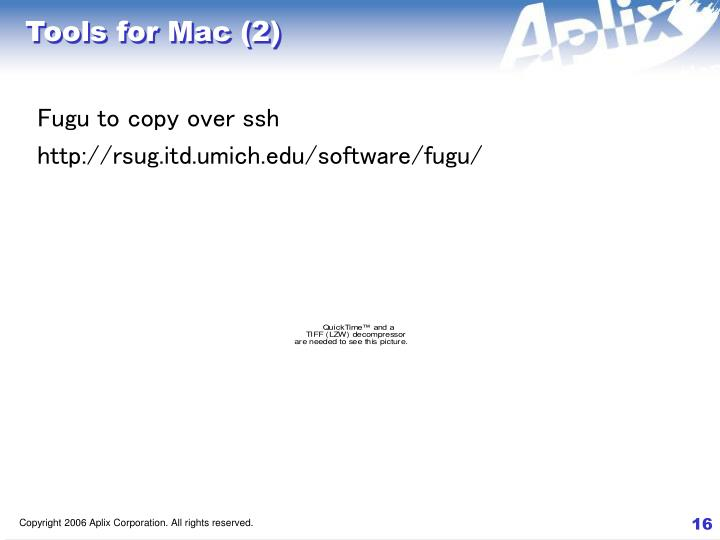 Tools for Mac (2)