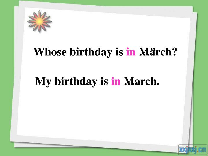 Whose birthday is