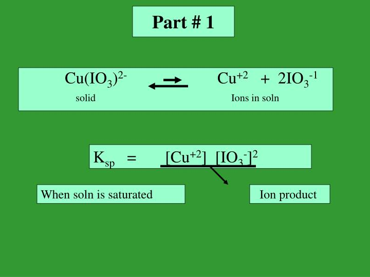 K sp solubility constant experiment 31