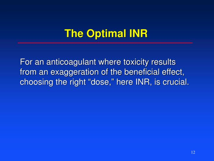 The Optimal INR