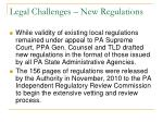 legal challenges new regulations