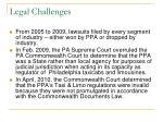 legal challenges