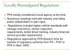 locally promulgated regulations