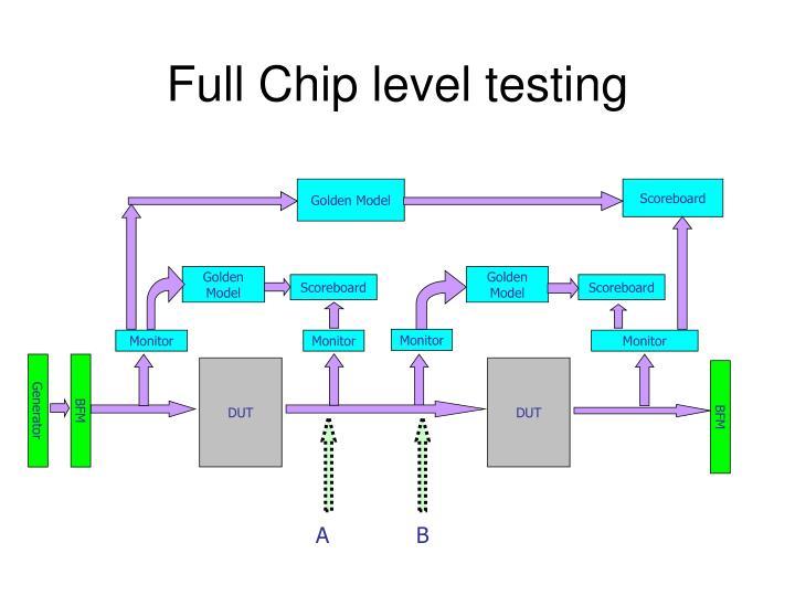 Full Chip level testing