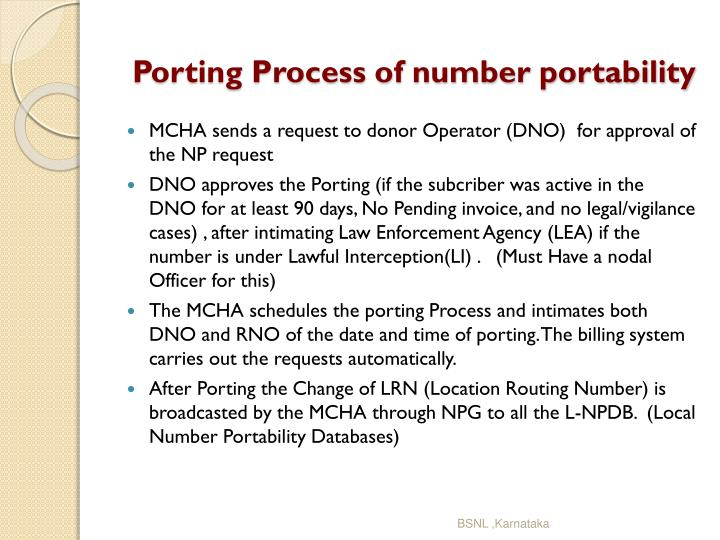 Porting process of number portability2