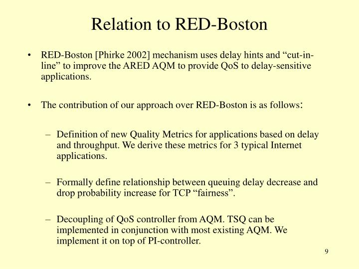 Relation to RED-Boston