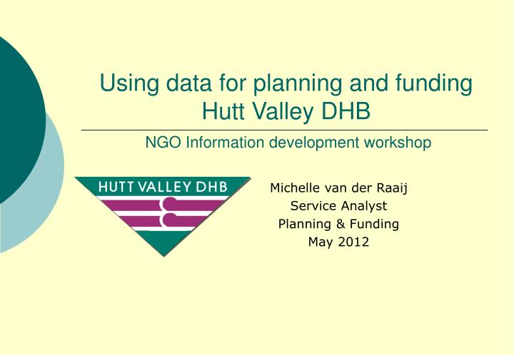 using data for planning and funding hutt valley dhb ngo information development workshop n.