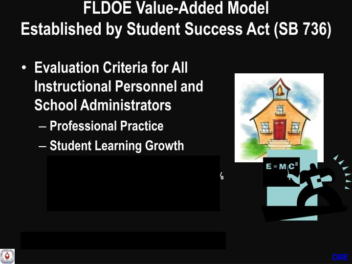 Fldoe value added model established by student success act sb 736
