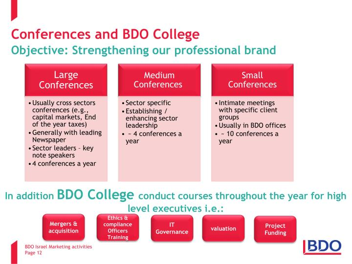 Conferences and BDO College