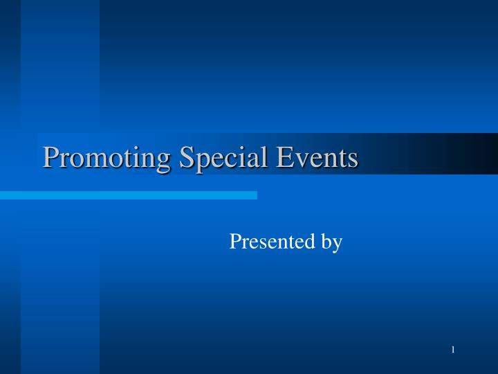 promoting special events n.