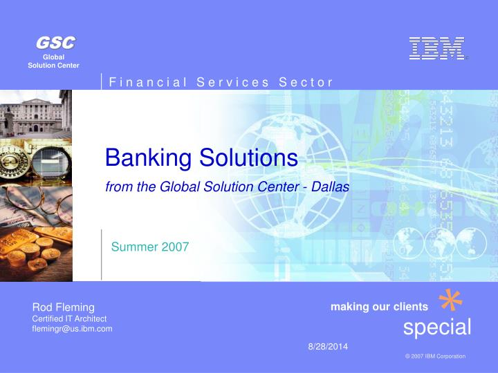 banking solutions from the global solution center dallas n.