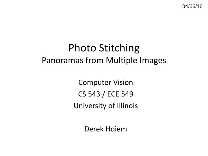 photo stitching panoramas from multiple images n.