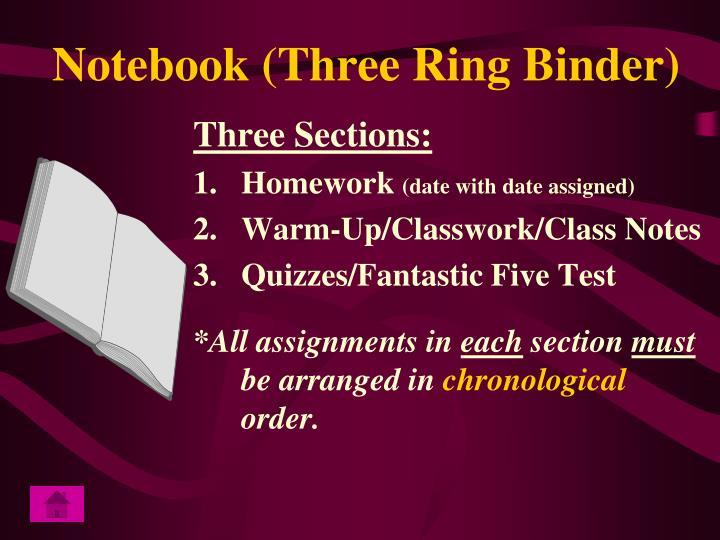 Notebook (Three Ring Binder)