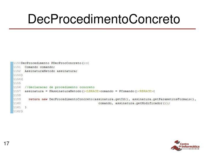 DecProcedimentoConcreto