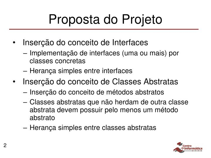 Proposta do projeto