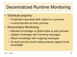 decentralized runtime monitoring