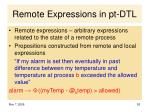 remote expressions in pt dtl