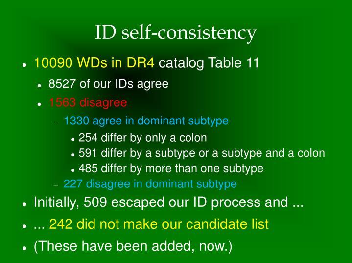 ID self-consistency
