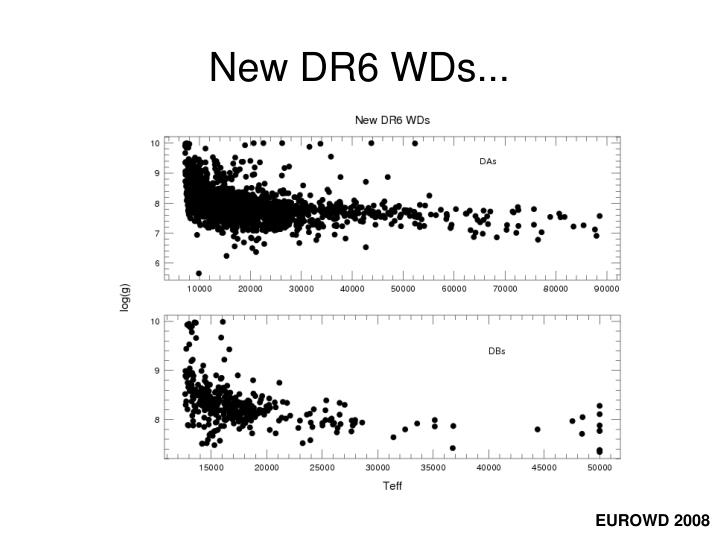 New DR6 WDs...