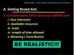 a setting broad aim6