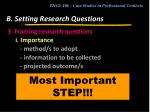 b setting research questions13