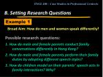 b setting research questions16