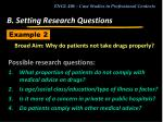 b setting research questions18