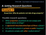 b setting research questions19