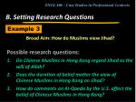 b setting research questions20