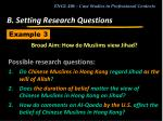 b setting research questions21