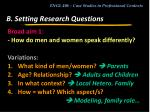 b setting research questions4